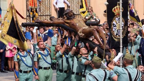 28A.-La cofradía del Cristo de la Buena Muerte (Málaga) pide a los líderes de PP, Cs y Vox que no asistan a sus actos
