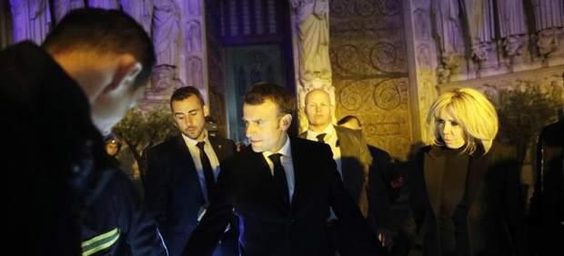 Macron, en el incendio de Notre Dame