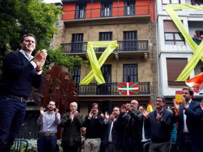 Albert Rivera, en el mitin electoral en Rentería
