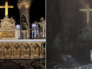 Graves daños en el altar mayor