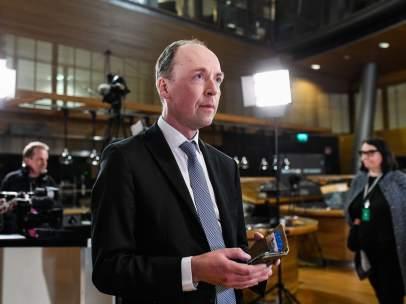El líder ultraderechista de los Verdaderos Finlandeses, Jussi Halla-aho.