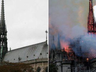 El antes y después de la catedral de Notre Dame