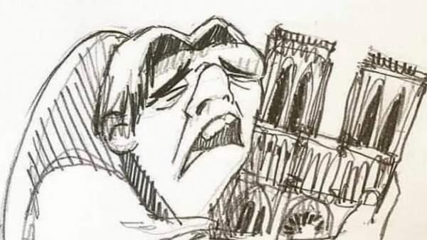 La imagen publicada por Neymar tras la tragedia de Notre Dame