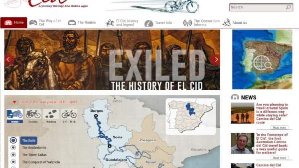 El Camino del Cid presenta su página web en inglés