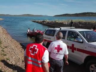 Localizado en el pantano de Alange (Badajoz) el cuerpo sin vida de un hombre