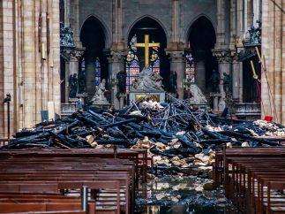 Así ha quedado el interior de Notre Dame tras el incendio