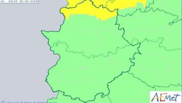 El 112 Extremadura activará mañana la alerta amarilla por vientos y tormentas en el norte de la provincia de Cáceres