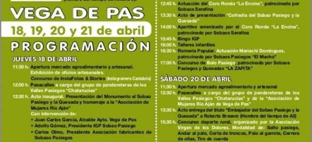 Vega de Pas acoge del 18 al 21 de abril la Gran Fiesta del Sobao Pasiego y la Quesada