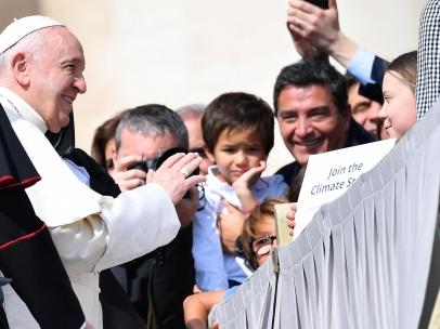 Greta Thunberg y el papa Francisco
