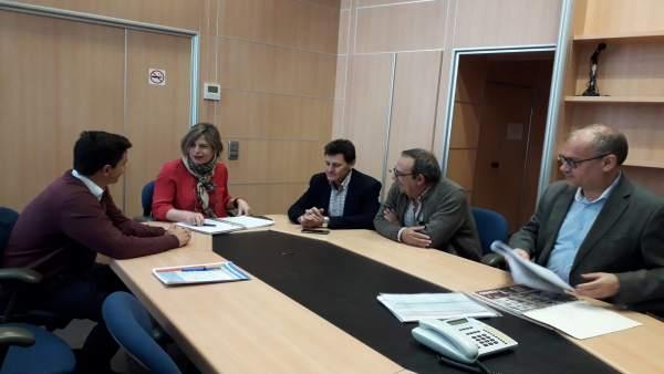 La CHE y la Comunidad General de Regantes del Canal de Bardenas analizan la situación de las reservas de agua