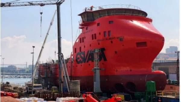 Astilleros Zamakona de Santurtzi botará este jueves el 'Esvagt Albert Betz', buque de apoyo a parques eólicos