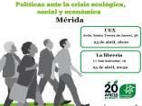 Ecologistas en Acción presenta el próximo martes en Mérida la publicación 'Nuevos escenarios post-colapso'
