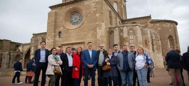 28A.- Pedro Sánchez Visita La Seu Vella De Lleida Y Pasea Por El Centro De La Ciudad