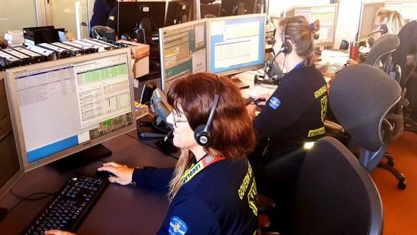 Gestores telefónicos del 112