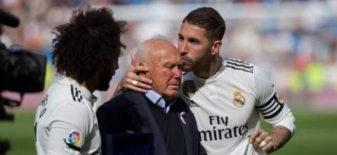 Sergio Ramos, con Herrerín