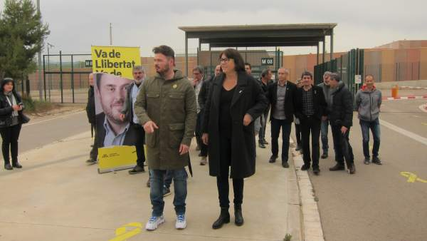 28A.- Rufián Pide El Voto A ERC Desde Lledoners Para Ganar A Los 'Carceleros' De Junqueras