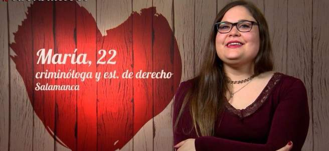 María, en 'First dates'.