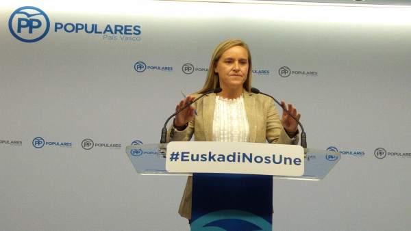 PP vasco pide al Gobierno del PNV y PSE que abandone 'la pasividad' e impida 'el culto' a miembros de ETA