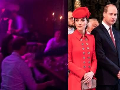 Kate Middleton, junto a los príncipes Guillermo y Harry