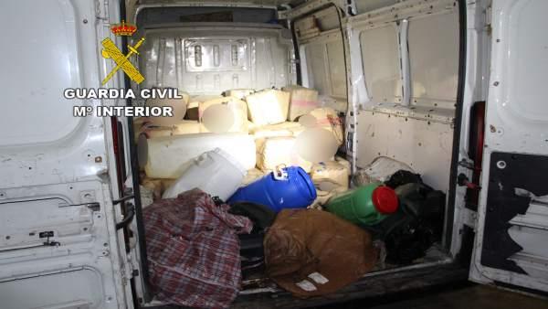 Sucesos.- Intervienen una furgoneta con 1.620 kilos de hachís en Gran Canaria