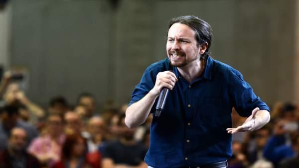Pablo Iglesias interviene en un encuentro en Valencia