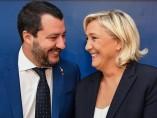 Salvini y Le Pen