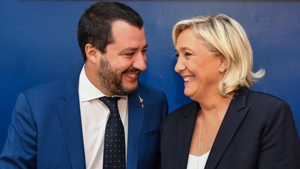 Salvini y Le Pen