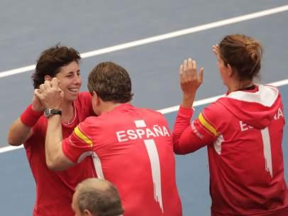Carla Suárez con España Fed Cup
