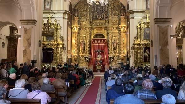 S.Santa.- Juan Miguel Recio ensalza la vocación de servicio de la Guardia Civil en el ofrecimiento de los Dolores