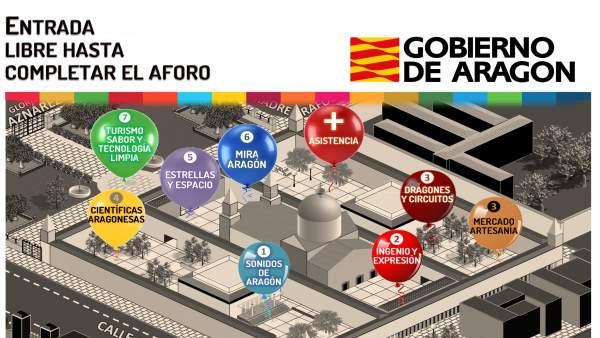 El Edificio Pignatelli se llena de música, teatro y ciencia para celebrar dos días dedicados a Aragón