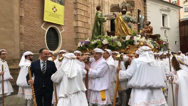 Celdrán centra su pregón de cierre de la Semana Santa de Murcia en la figura de la Virgen y las madres