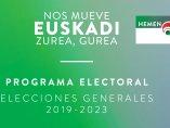 Portada del programa electoral del PNV