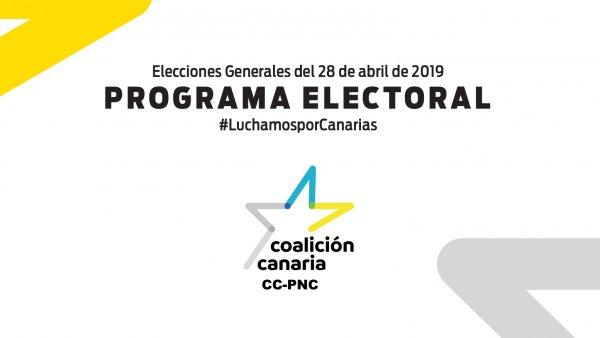 Portada del programa electoral de Coalición Canaria