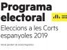 Portada del programa de ERC para las elecciones generales