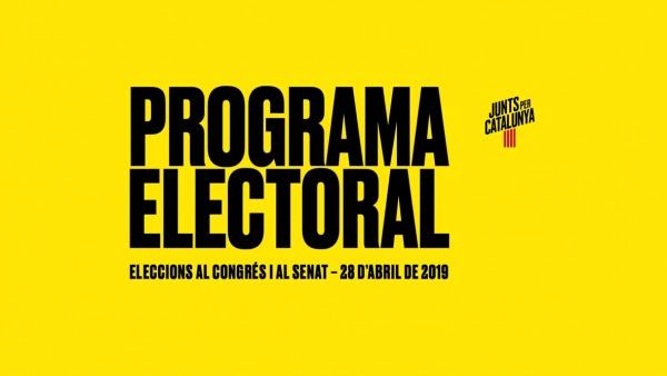 Portada del programa electoral de Junts per Catalunya