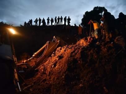 Deslizamiento de tierra en Colombia