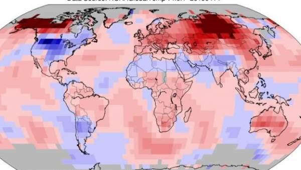 Temperaturas en marzo de 2019