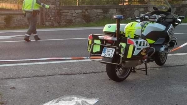 Muere la acompañante de un motorista con alcoholemia positiva tras un accidente en Catoira (Pontevedra)