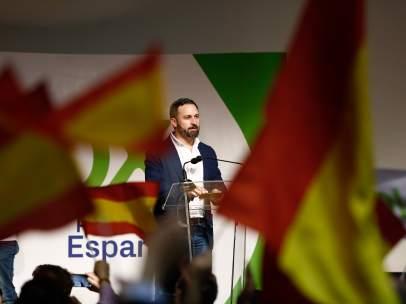 El líder de Vox, Santiago Abascal, en un acto de partido.