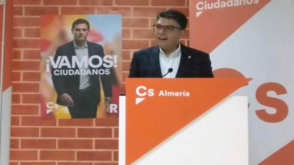 Almería.-26M.-Cazorla (Cs) apunta el fin de una 'etapa de especulaciones' con su elección como candidato a la Alcaldía