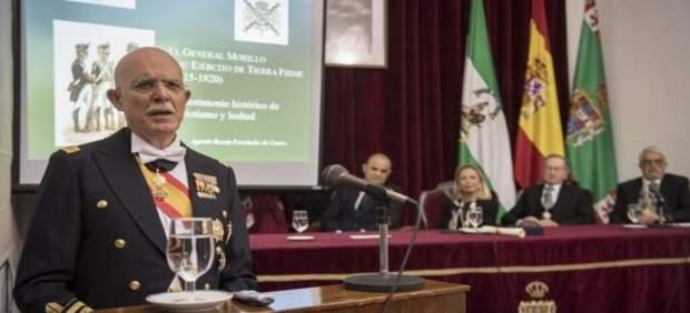 28A.- El general de Infantería de Marina Agustín Rosety Fernández de Castro, cabeza de lista por Vox en Cádiz