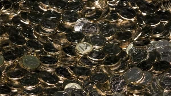 Fabricación De Monedas De Euros En La Fábrica Nacional De Moneda Y Timbre