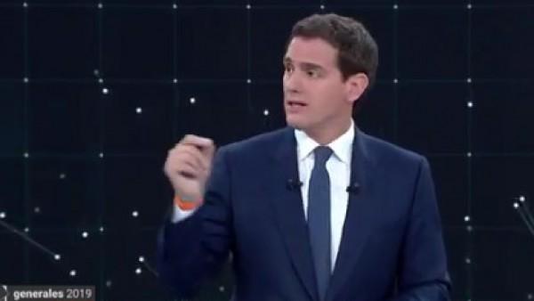 Rivera, durante el debate