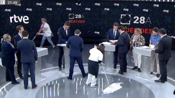 Mopas en el debate electoral de RTVE