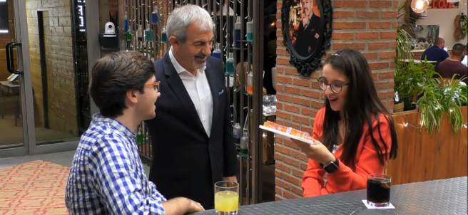 Álvaro y Mónica, en 'First dates'.