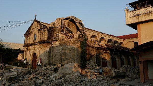 Destruida por el terremoto