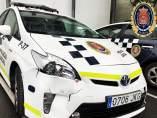 Imagen de uno de los vehículos de Policía afectados