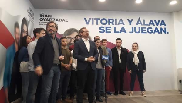 28A.- Oyarzábal Pide A Los Autónomos Que Voten Al PP Porque Es El Partido Que Les Va A 'Defender'