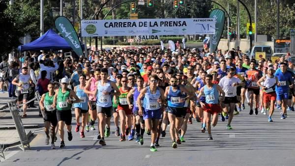 Carrera de la prensa Málaga 2018 corredores