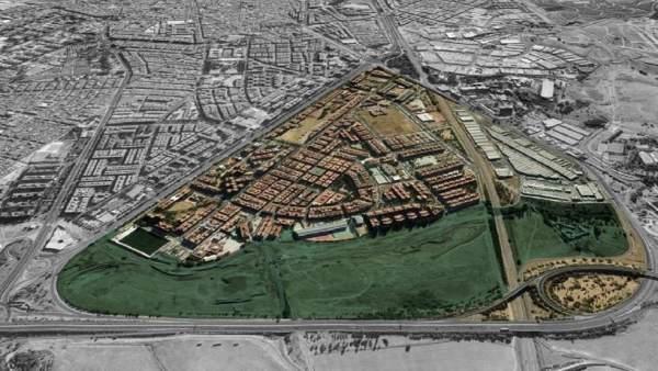 Imagen con la ubicación y tamaño del proyectado Parque de Levante